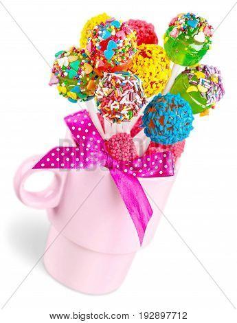Sweet pop vase lollipops sweet food party food cake pops
