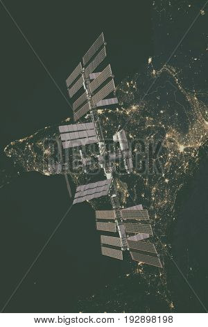 International Space Station Over Europe.