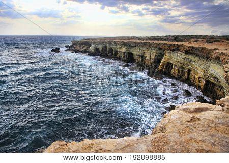 Sea Caves Near Cape Greko