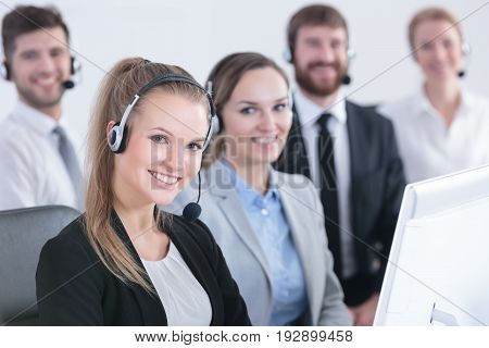Group Of Telemarketers