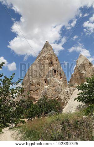 Rock Formations In  Cappadocia