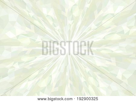 Cubism background radiation Bright mint green design