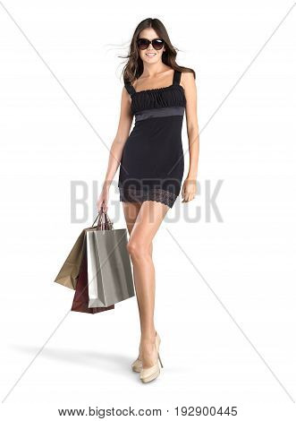 Shopping beautiful woman bags shopping bags one person young adult