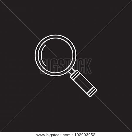 Search icon vector, magnifying glass solid logo illustration, pictogram isolated on black