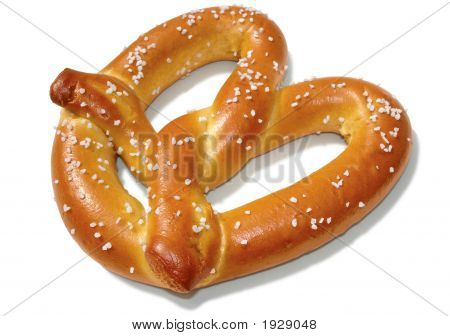 Soft Pretzel On White