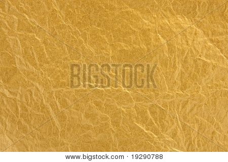 Gold foil texture with focus across entire surface