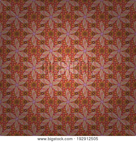 Background texture sketch floral theme in colors. Abstract ethnic vector seamless pattern. Tribal art boho print vintage flower background.