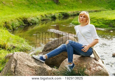 Beautifyl Young Woman In Casual Style