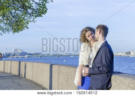 Young Couple On A Walk