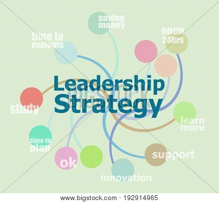 Text Leadership Strategy. Abstract Infographics Options Template. Can Be Used For Workflow Layout, D