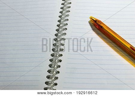 notebook paper List pad write with Ballpoint pen