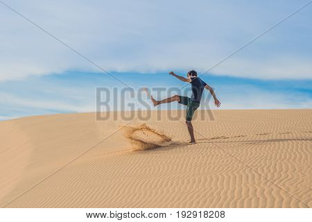 Man Kicks The Sand, Annoyance, Aggression