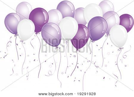 Purple party balloons