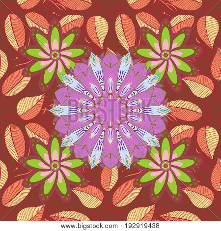 Motley illustration. The elegant the template for fashion prints. Vector cute pattern in small flower. Spring floral background with flowers. Small colorful flowers.