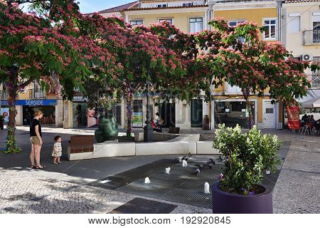 Square In Setubal, Portugal