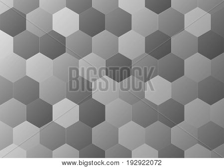 Abstract gray geometric shapes on background. Vector illustration
