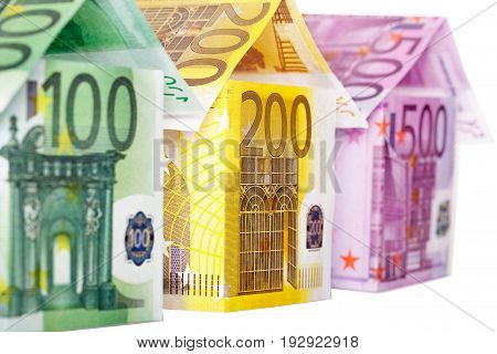 Euro notes houses money design paper wealthy