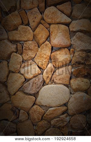 Closeup Texture Background Image Of Natural Rock Or Stone Arrange In Pattern As Wall