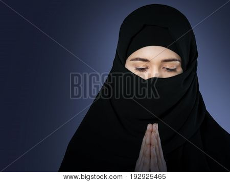 Closeup clothing ethnicity attractive pray clothes adult