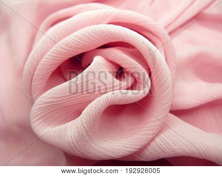 pink silk rose flower form texture abstract background