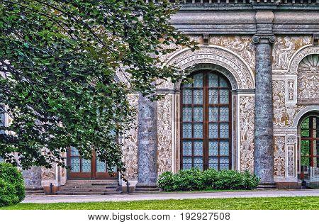 Prague, Czech Republic. The Beautiful Renaissance Building In The Royal Gardens At Prague Castle, Ba