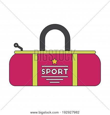 flat icon on stylish background Sports bag