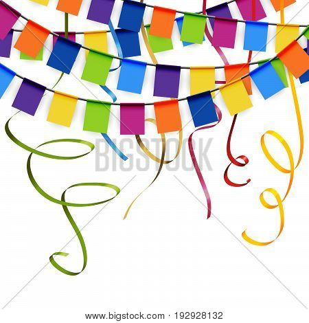 Colored Party Garlands And Streamers