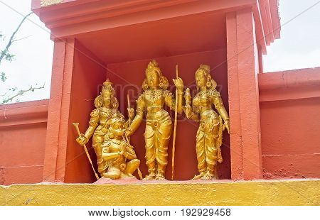 The Sculptural Ensemple Of Hindu Deities