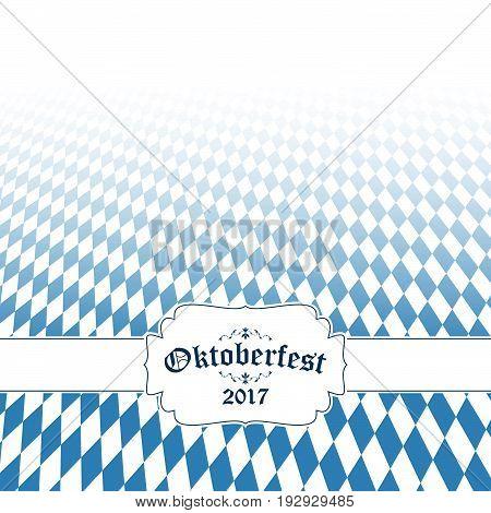 Oktoberfest Background With Blue-white Checkered Pattern