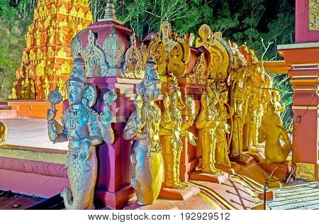 The Row Of Sculptures On Hindu Temple