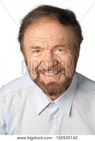 Smiling man handsome senior senior man looking at camera facial expression