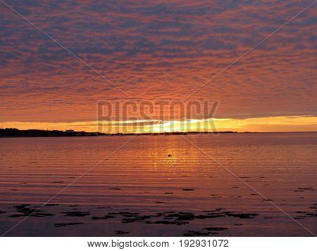 The beautiful sunset in Newfoundland 5 June 2016 Canada