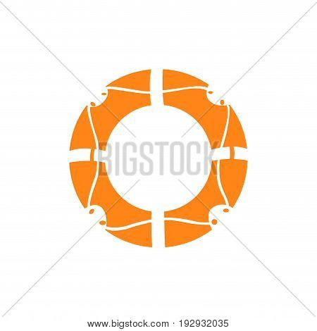 Isolated lifesaver silhouette on a white background, Vector illustration