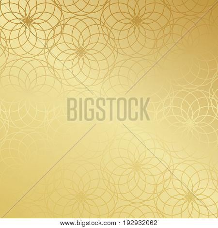 Ramadan Kareem Gold Gradient Greeting Card, Banner, Seamless Pattern. Vector Arabic Ornate Geometric