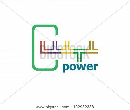 Text Power. Business Concept. Abstract Modern Signs For Banner, Poster Or Card Design