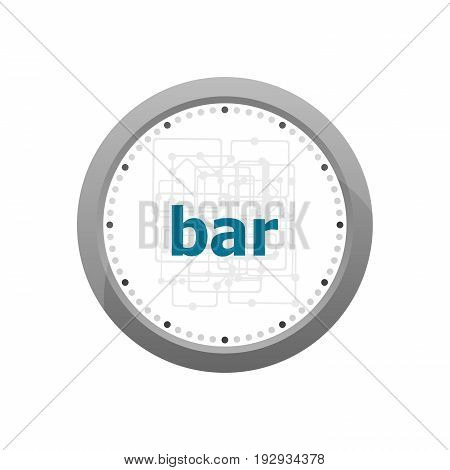 Text Bar On Digital Background. Social Concept . Abstract Wall Clock Isolated On A White Background