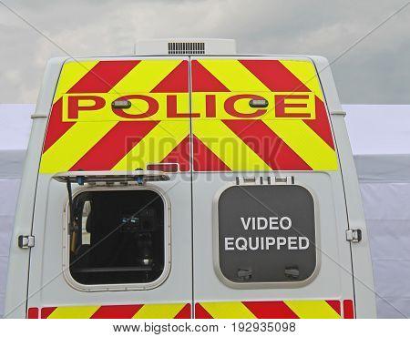 A Traffic Police Video Camera Surveillance Vehicle.
