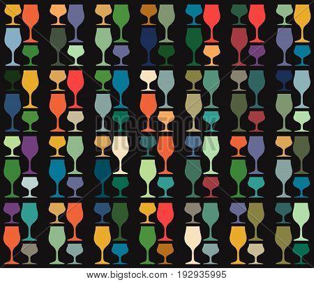 Vector set of bottles for alcohol.Wine list.Bottle background.Glasses for alcoholic drinks.Design for cocktail party.