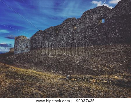 Ruins of a castle which was based in 13th centuRuins of a relatively large castle which was based probably in the second half of the 13th century.