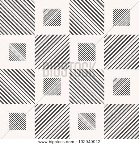 Abstract seamless pattern of gray lines. Diagonal direction.