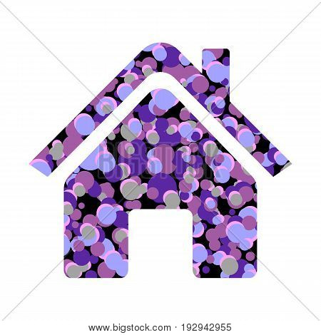Home icon on white background. Vector illustration.