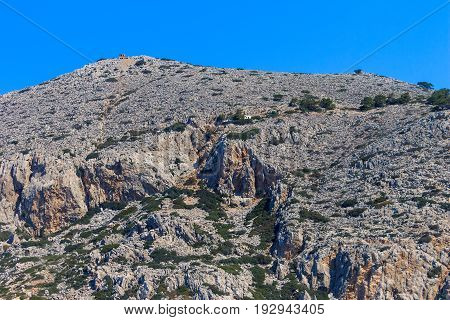 Mountains Of Rhodes, Greece.
