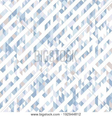 Abstract seamless pattern of triangles. Shades and gradients of geometric shapes. Diagonal lines.