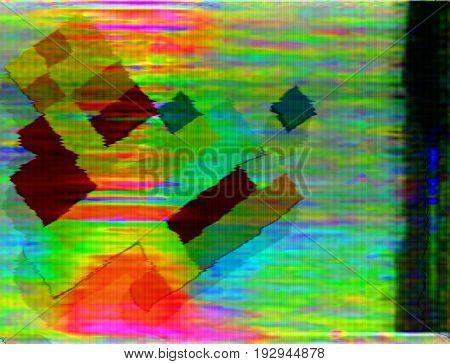 Bright multi-color background in the style of glitch art.