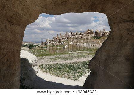 Rock Formations In Cappadocia, Turkey
