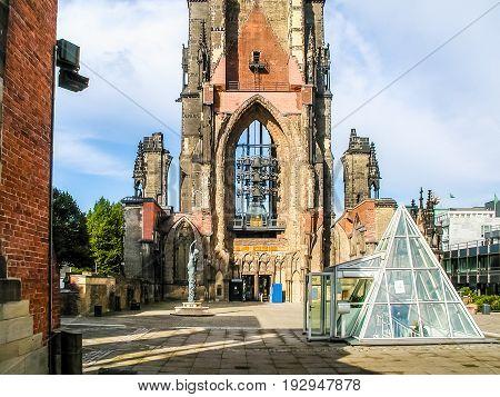 Church Of St Nicholas Ruins In Hamburg Hdr