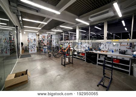 Inside A Mechanical Workshop For The Maintenance And Fine Tuning