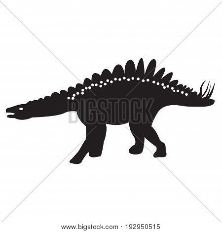 Isolated silhouette of a dinosaur toy, Vector illustration