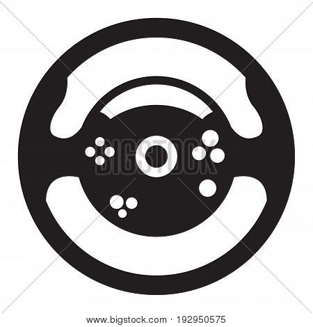 Isolated silhouette of a wheel toy, Vector illustration