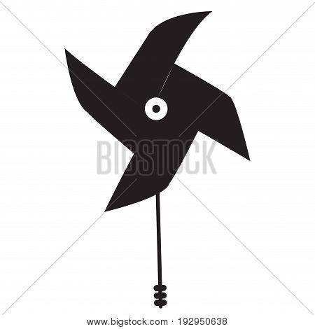 Isolated silhouette of a wind toy, Vector illustration